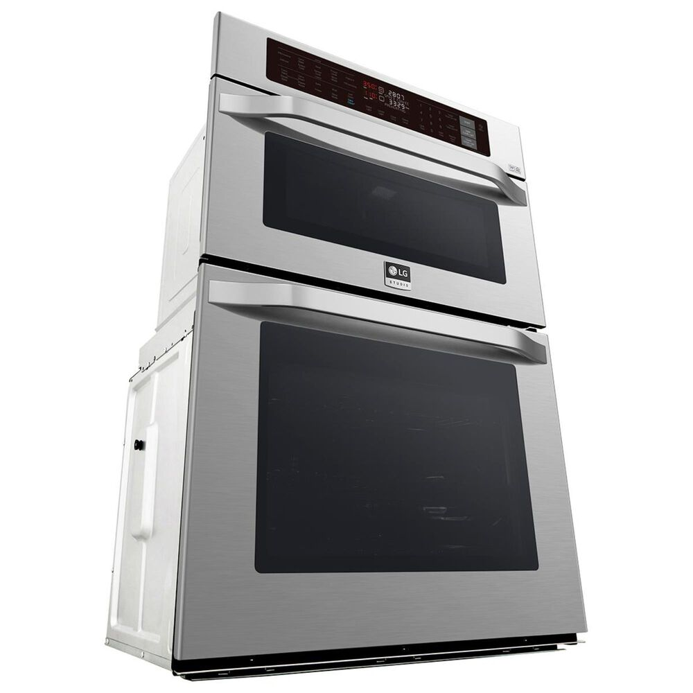 "LG STUDIO 30"" Electric Convection and EasyClean Wall Oven with Built-In Microwave in Stainless Steel, , large"
