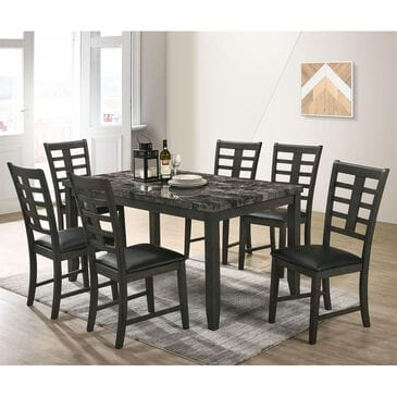 Mayberry Hill Nash 7-Piece Dining Set in Black and Grey, , large