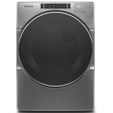 Whirlpool 7.4 Cu. Ft. Heat Pump Electric Dryer with Steam in Chrome Shadow, , large