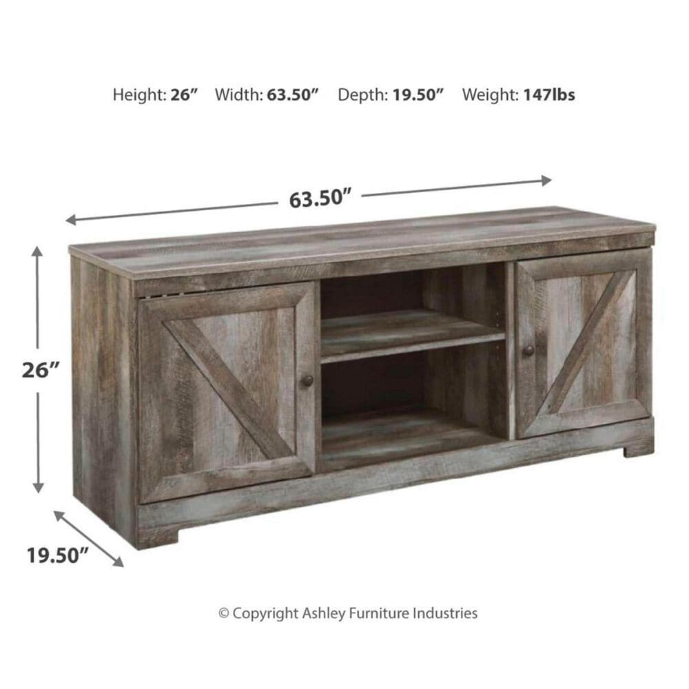 """Signature Design by Ashley Wynnlow 63.5"""" TV Stand  in Rustic Gray, , large"""