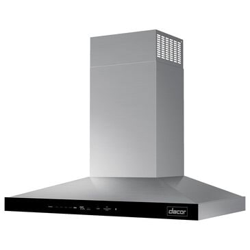 """Dacor 36"""" Chimney Wall Hood in Silver Stainless Steel, , large"""