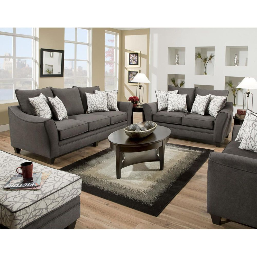 Southaven Stationary Loveseat in Flannel Seal, , large