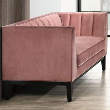 Mayberry Hill Calais Loveseat in Marine Rose Velvet, , large