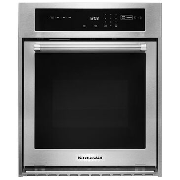 """KitchenAid 24"""" Single Wall Oven with True Convection in Stainless Steel, , large"""