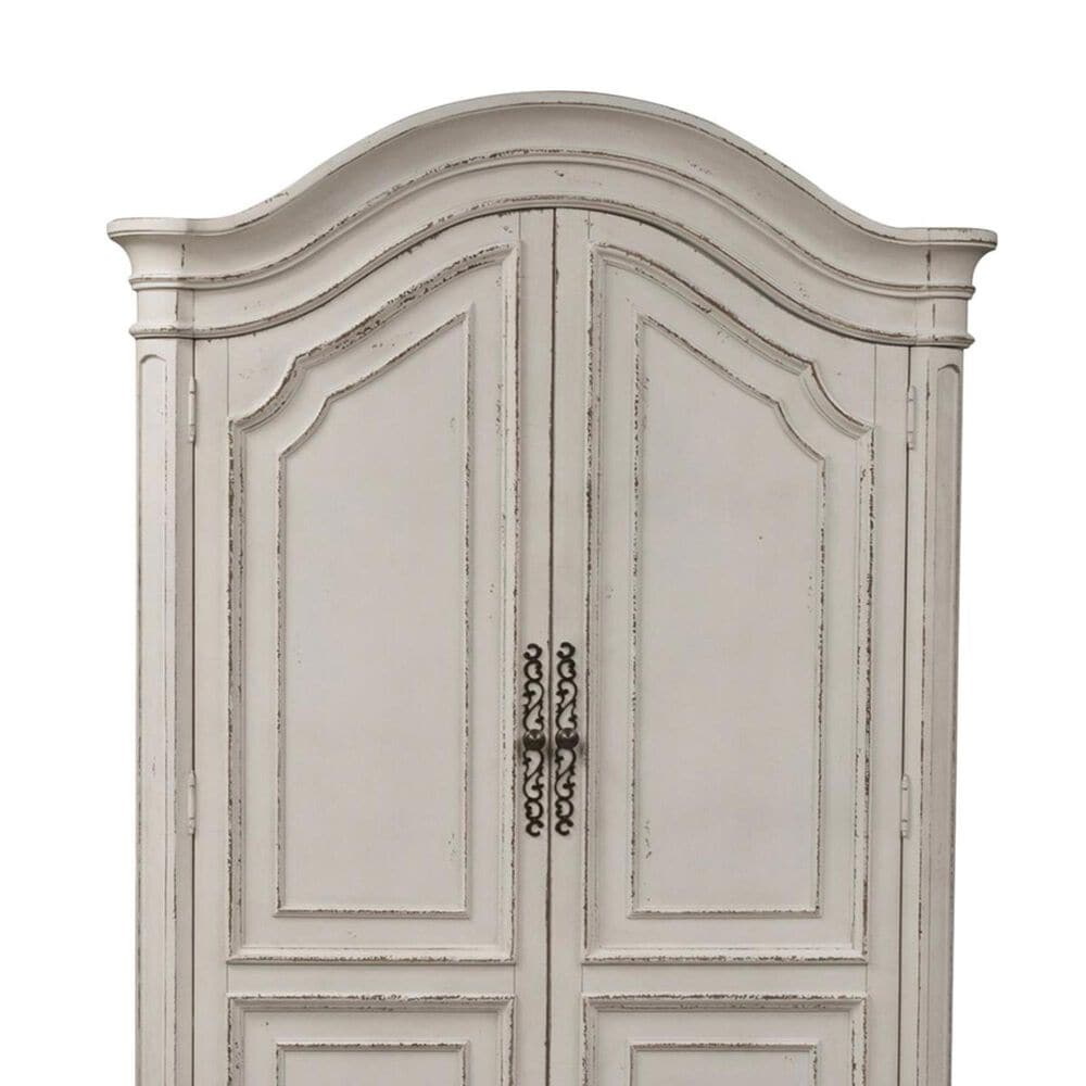 Belle Furnishings Magnolia Manor Armoire in Antique White, , large