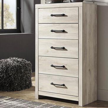 Signature Design by Ashley Cambeck 5 Drawer Chest in Whitewash, , large