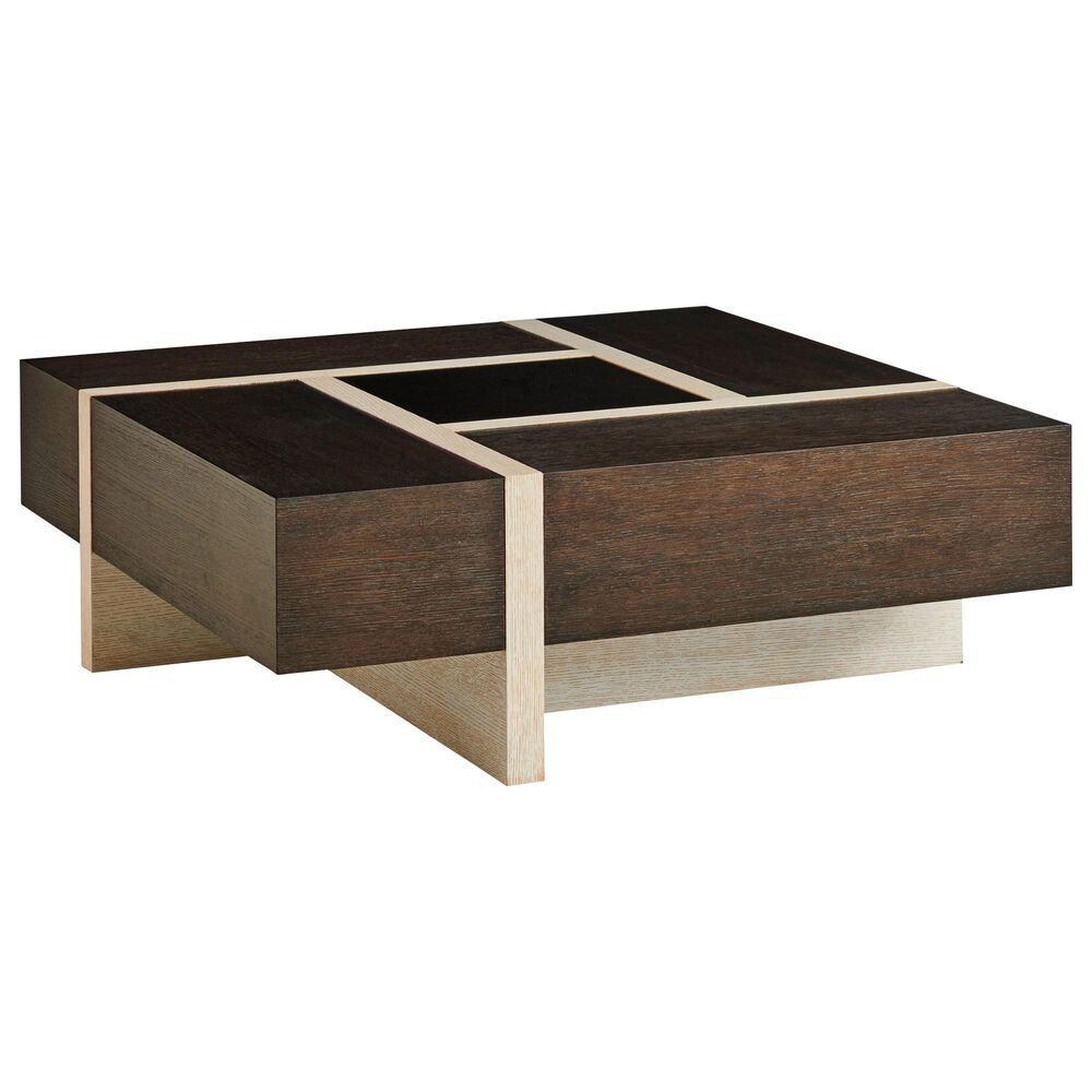 Lexington Furniture Solace Cocktail Table in Dark Mocha Canyon and Light Monterey, , large