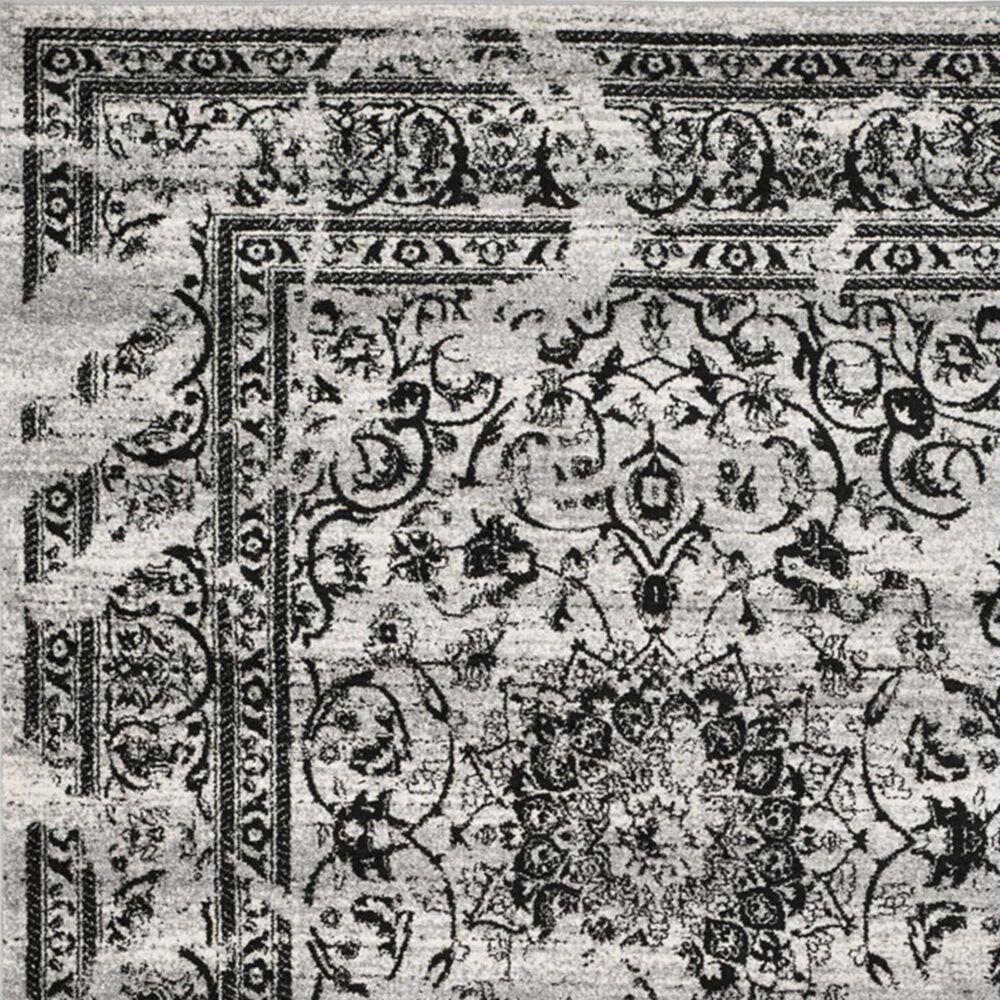 Safavieh Adirondack ADR101A-10R 10' x 10'  Silver/Black Round Rug, , large