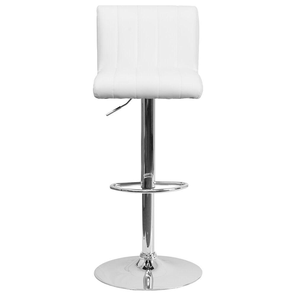 Flash Furniture Adjustable Barstool in White, , large