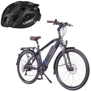 Magnum Metro+ E-bike with (Free) Smart Bluetooth Bicycle Helmet in Black, , large