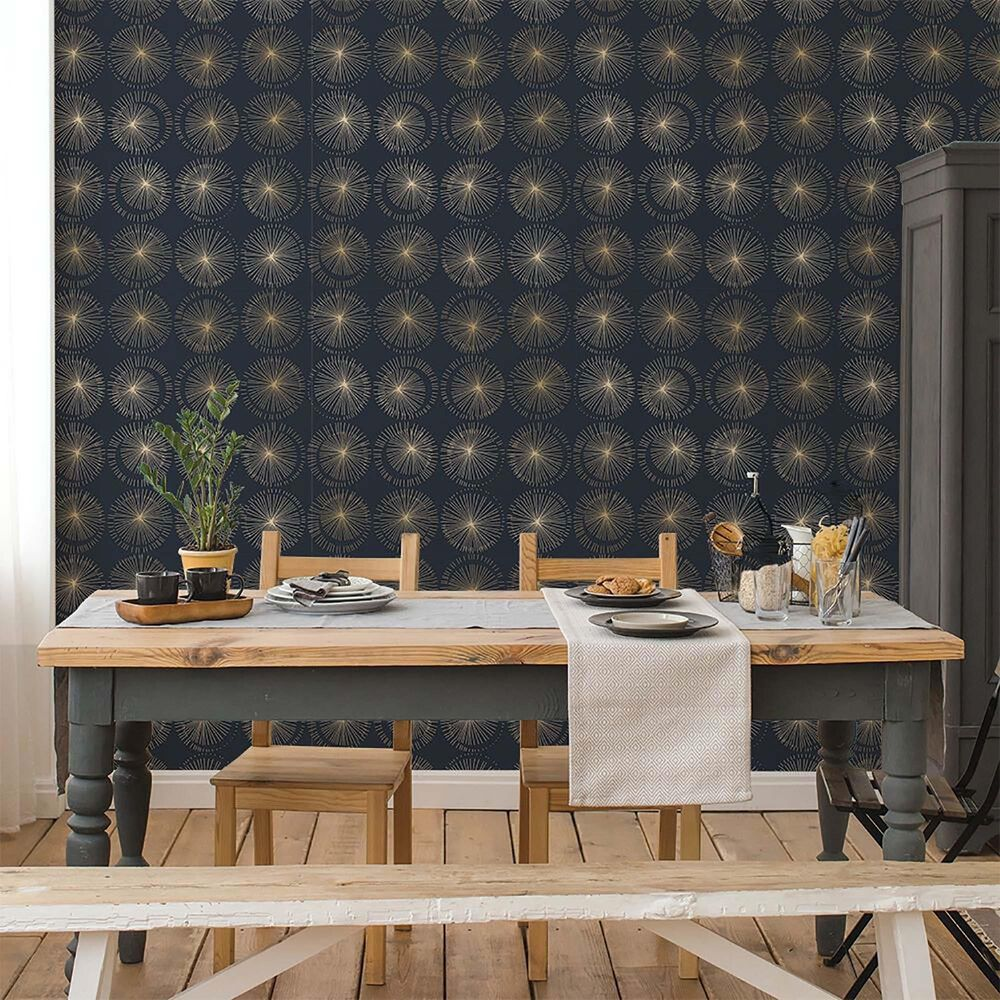 Tempaper Goodbye Moon Midnight Peel and Stick Wallpaper, , large