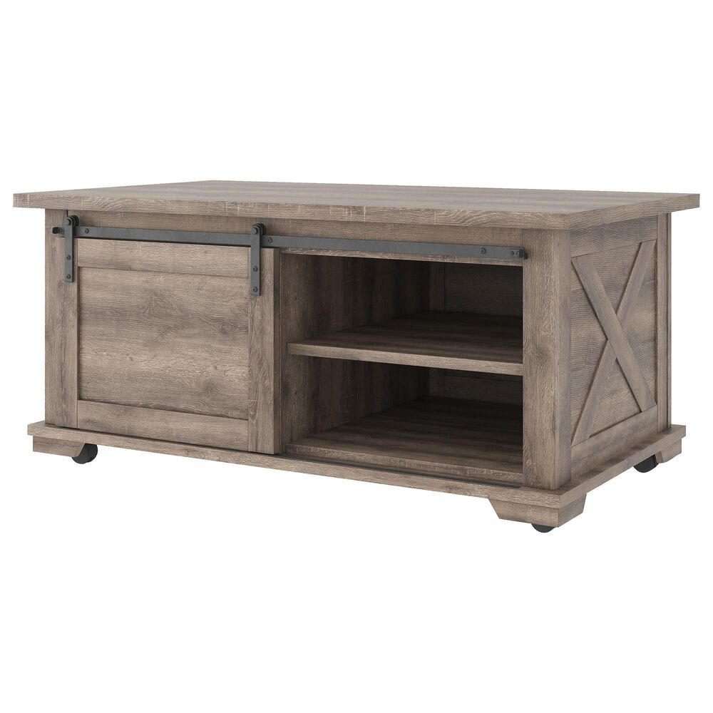 Signature Design by Ashley Arlenbry Rectangular Cocktail Table in Weathered Oak, , large