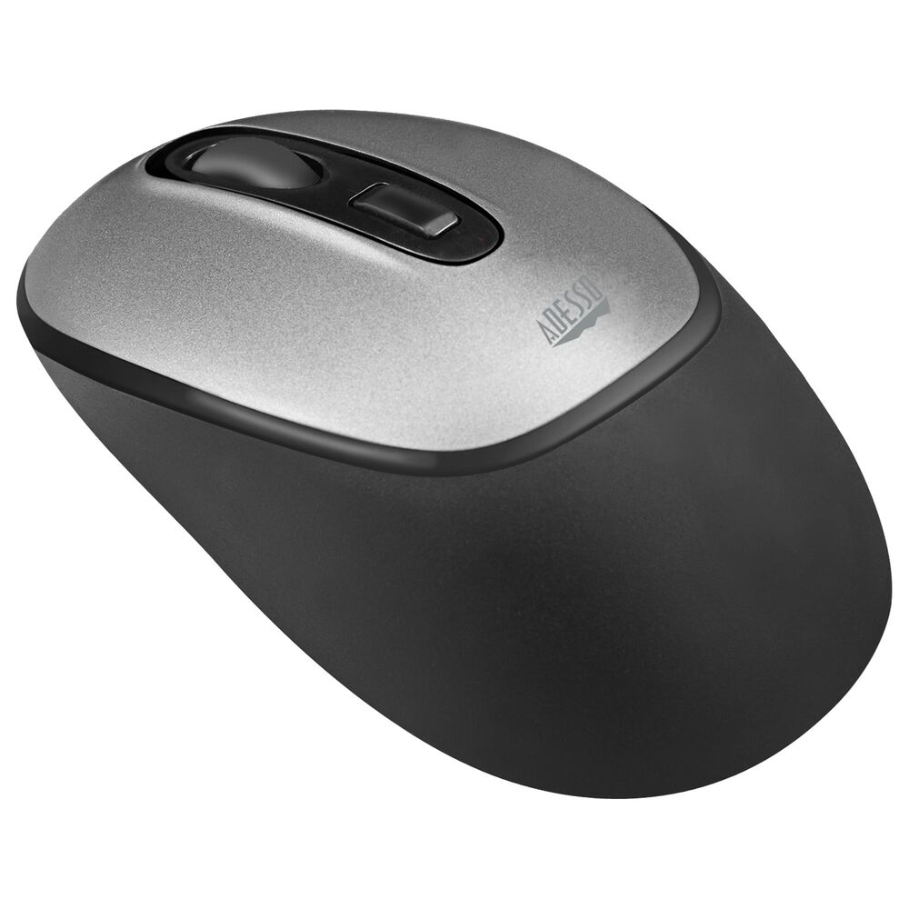 Adesso iMouse A10 Antimicrobial Wireless Mouse in Black and Gray, , large