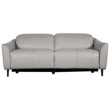 Interlochen Leather Power Reclining Sofa in Nova Silver Gray, , large
