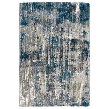 "Oriental Weavers Aspen Distressed Shag 2061L 6'7"" x 9'6"" Gray and Blue Area Rug, , large"