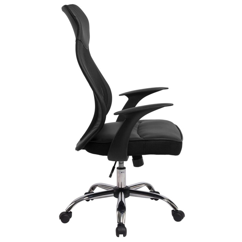 New Era Holding Group LTD Desk Chair with High Back in Black, , large