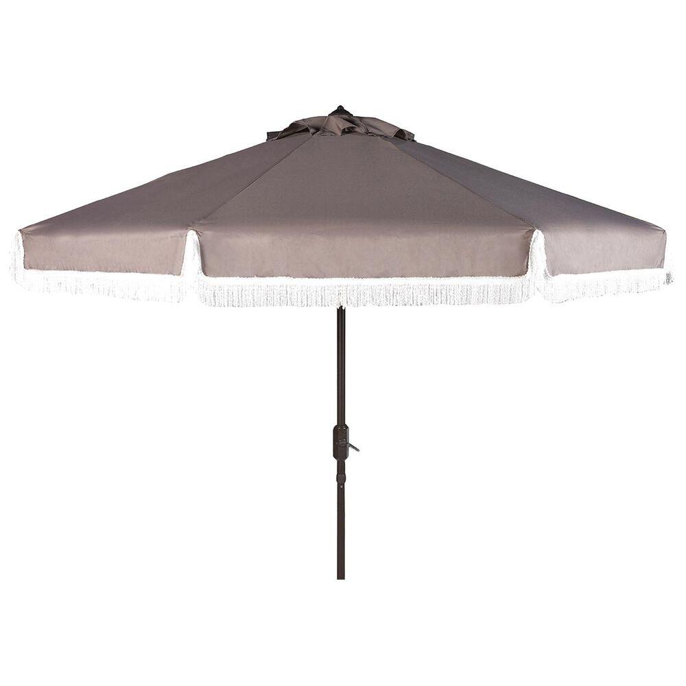 """Safavieh Milan 9"""" Umbrella in Grey and White, , large"""