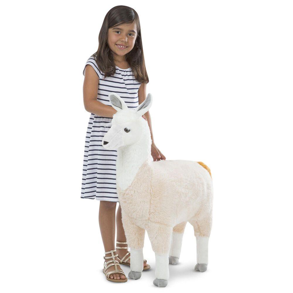 Melissa & Doug Lifelike Plush Llama Stuffed Animal, , large