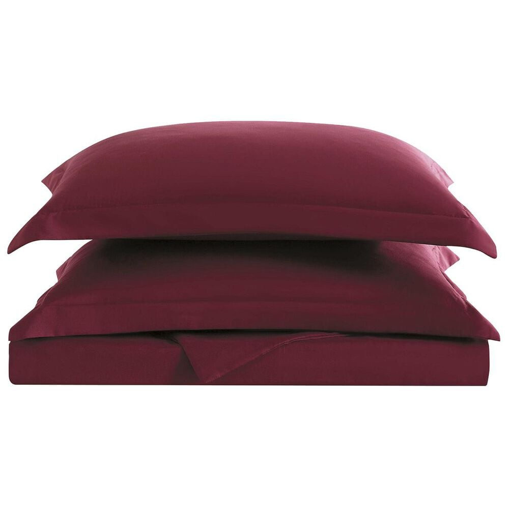 Pem America Truly Soft Everyday 3-Piece Full/Queen Duvet Set in Burgundy, , large
