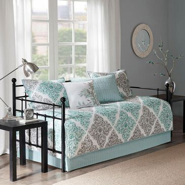Hampton Park Claire 6-Piece Daybed Cover Set in Aqua, , large