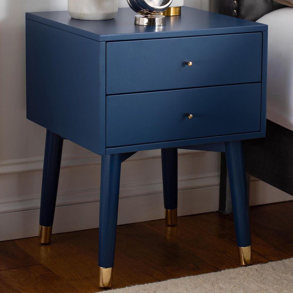 Safavieh Lyla Nightstand in Lapis Blue/Gold, , large