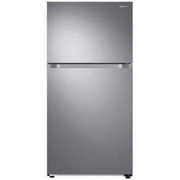 Samsung 21 Cubic Feet Capacity Top Freezer Refrigerator with FlexZone and Automatic Ice Maker in Stainless Steel, , large