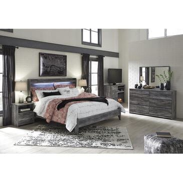 Signature Design by Ashley Baystorm 4 Piece Queen Bedroom Set in Smoke Gray, , large
