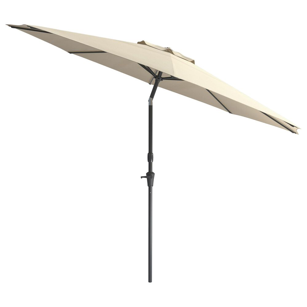 CorLiving 10' UV & Wind Resistant Patio Umbrella in Warm White, , large