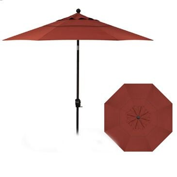 Garden Party 9' Push Button Tilt Umbrella in Henna, , large