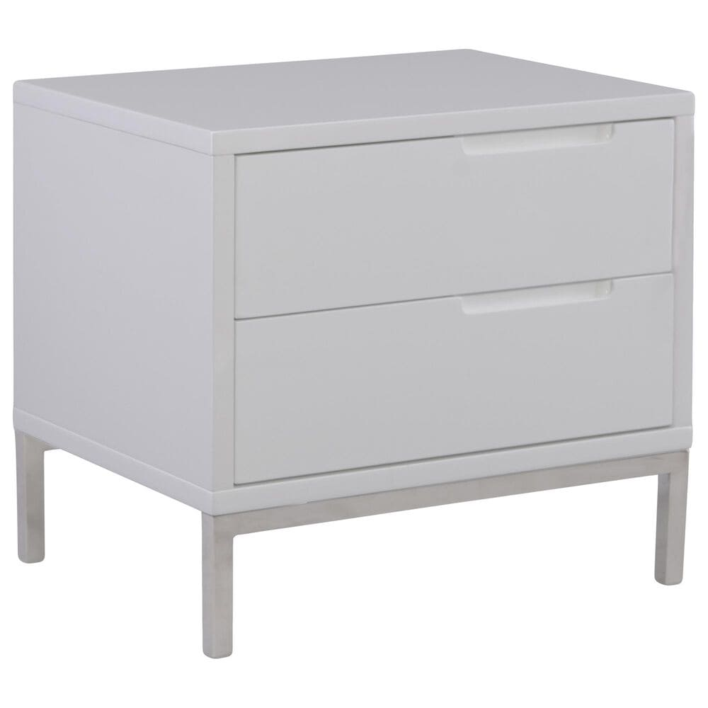Moe's Home Collection Naples Side Table in White, , large