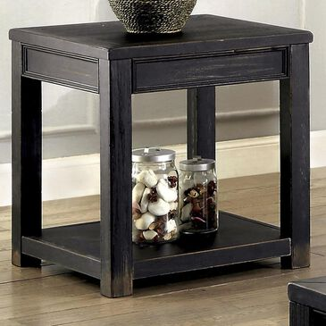 Furniture of America Zoe End Table in Antique Black, , large