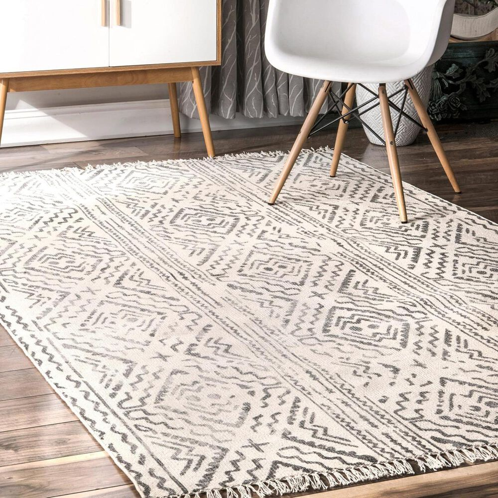 nuLOOM Cherai MBCH02A 5' x 8' Gray Area Rug, , large