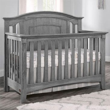 Oxford Baby Willowbrook 4-In-1 Convertible Crib in Graphite Gray, , large