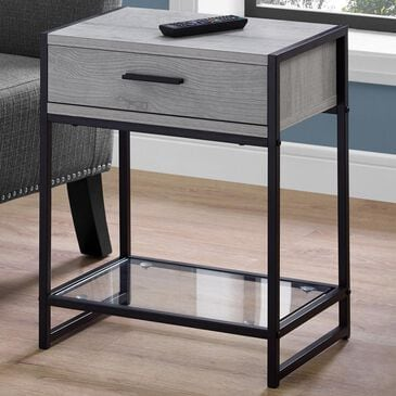 """Monarch Specialties 22"""" Accent Table in Grey and Black, , large"""