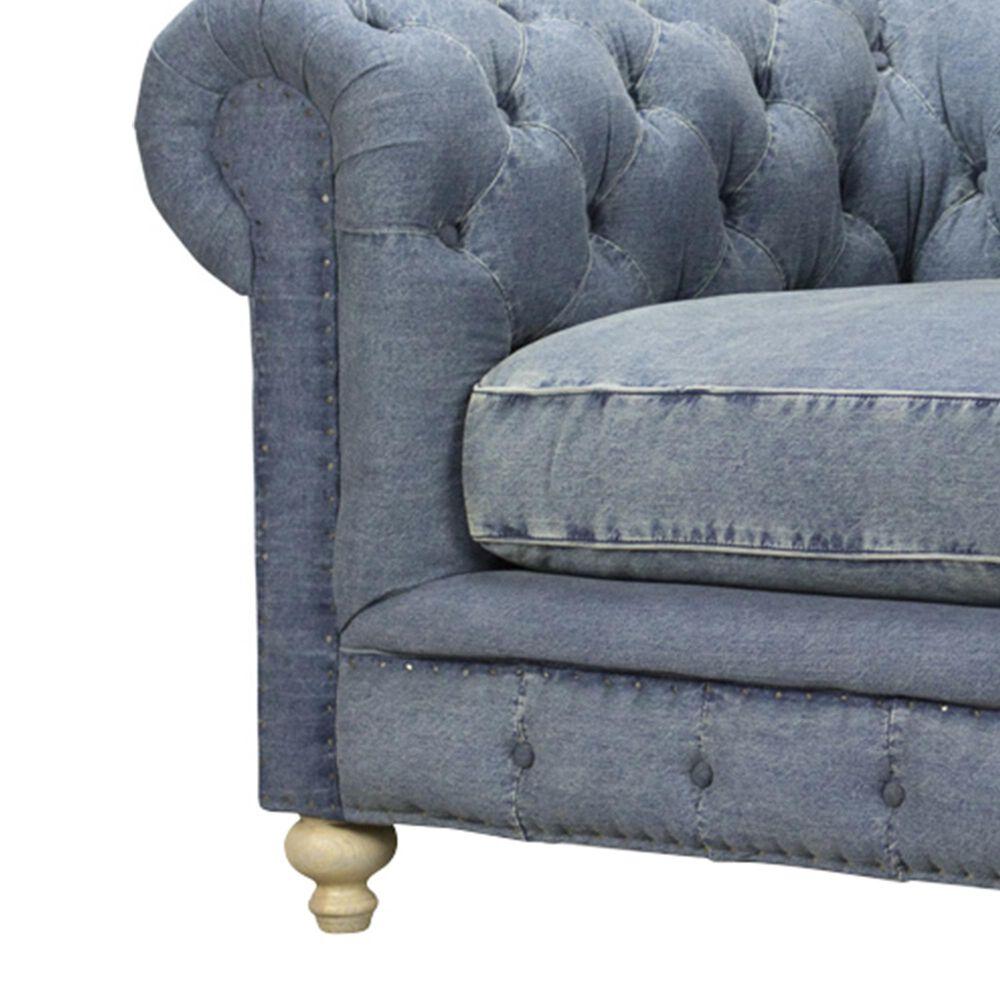 Vintage Furnishings Greenwich Chair in Desi Blue Denim, , large