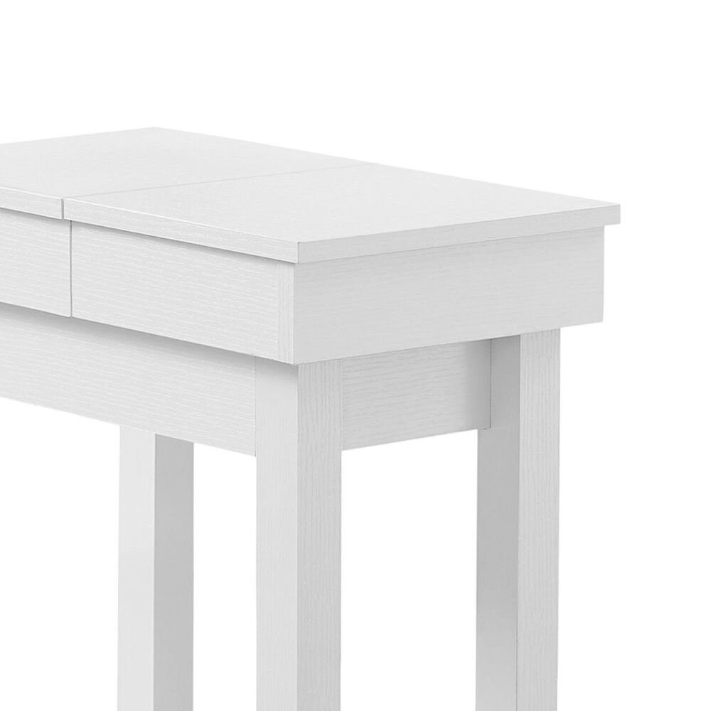 "Monarch Specialties 24"" Accent Table with Sliding Storage in White, , large"