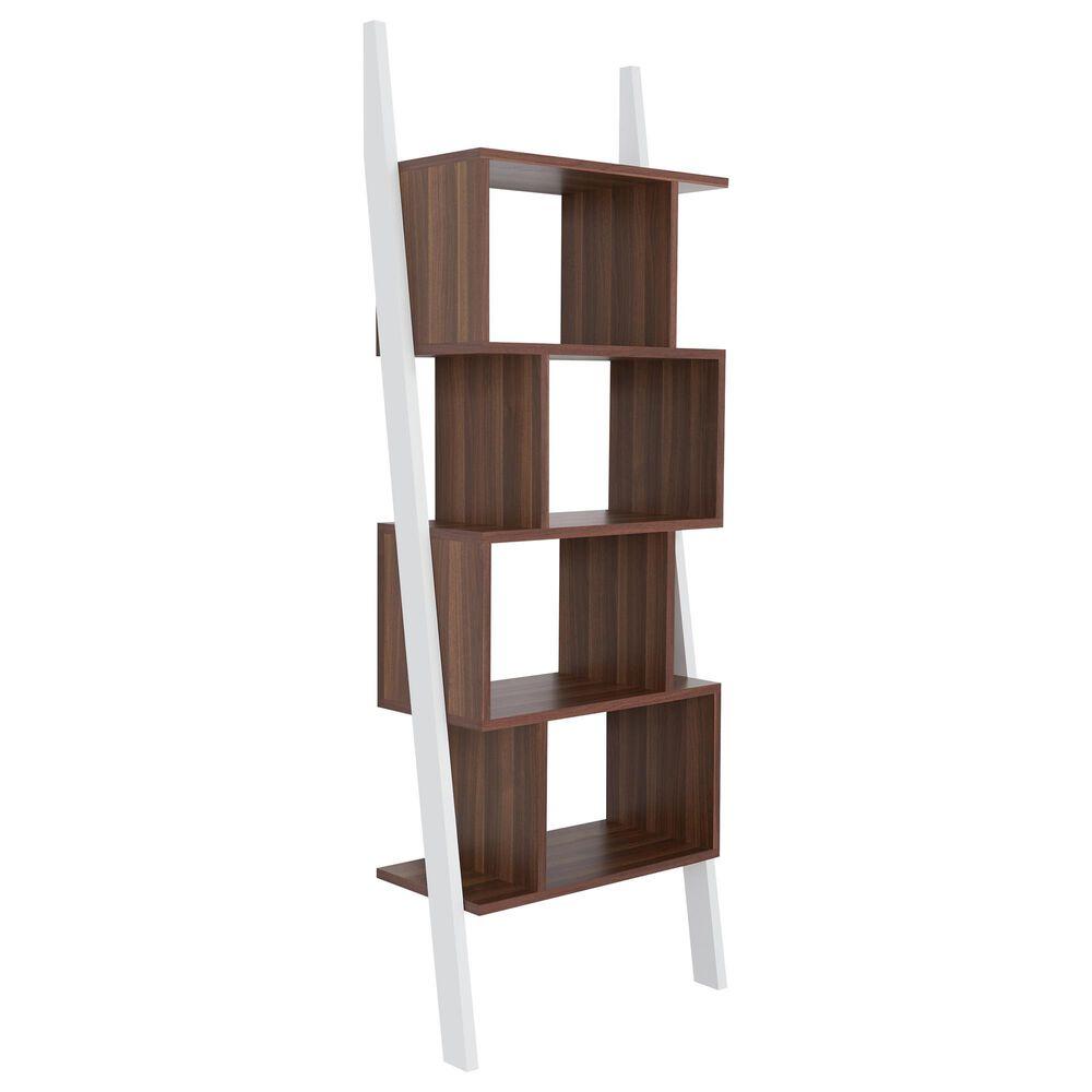 Furniture of America Cochran Display Stand in White/Walnut, , large