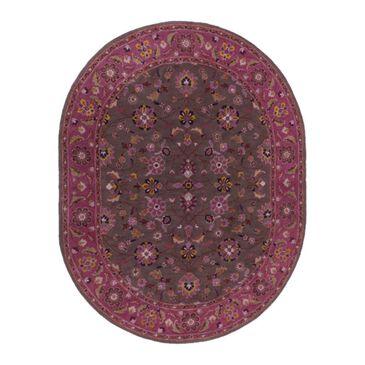 Surya Caesar CAE-1141 8' x 10' Oval Purple, Brown and Camel Area Rug, , large