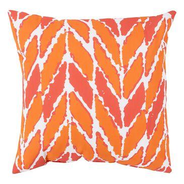 "Surya Inc Rain 26"" x 26"" Arrow Outdoor Tangerine Pillow in Coral, , large"