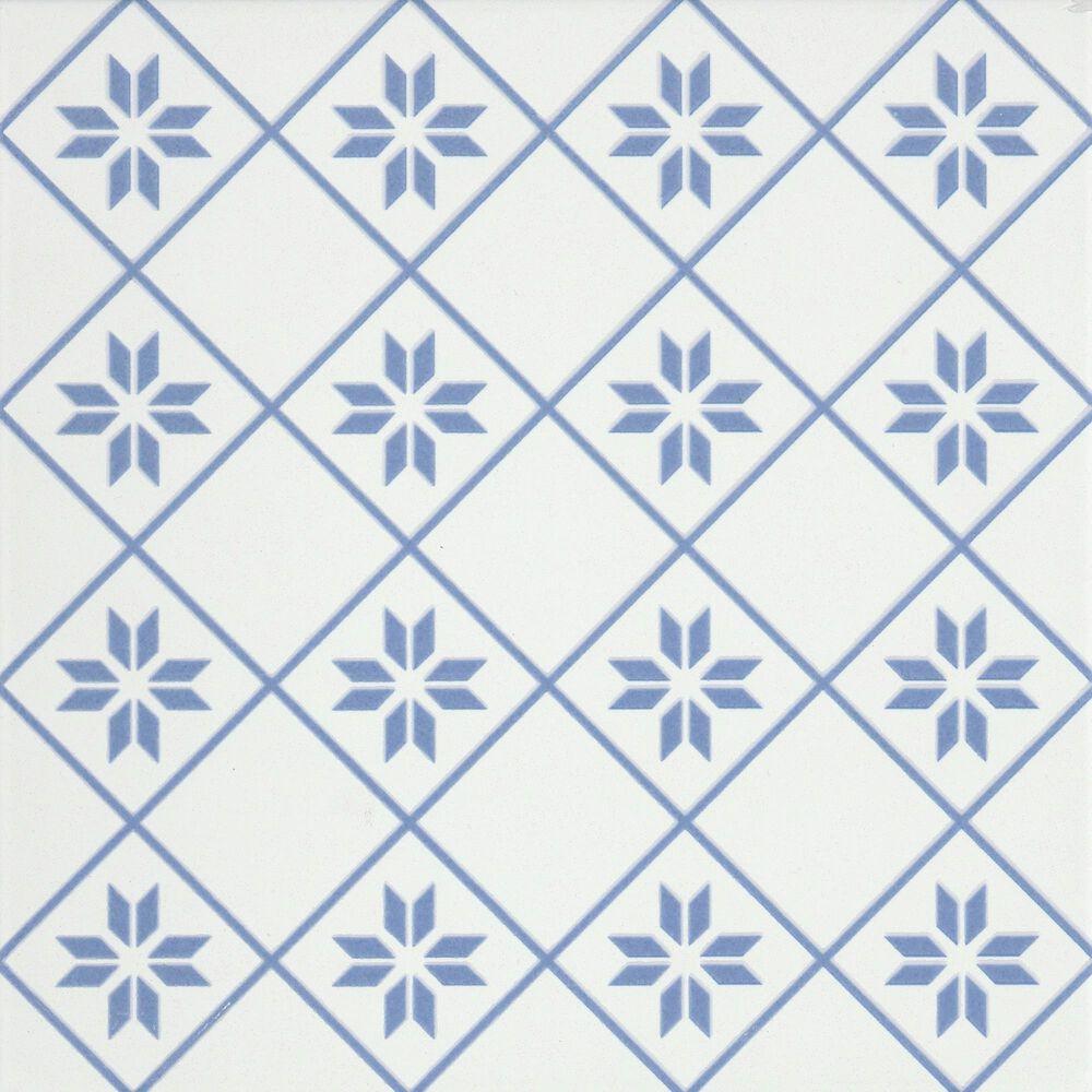 """Emser Geometry Petal Blue 10"""" x 10"""" Porcelain Tile, , large"""
