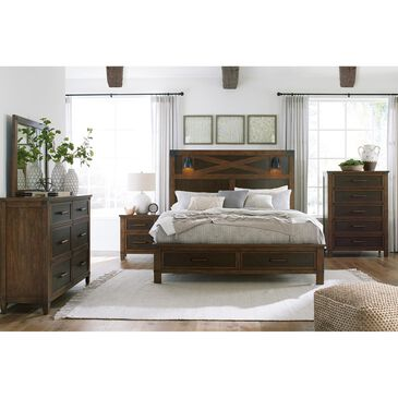 Signature Design by Ashley Wyattfield 3 Piece King Bedroom Set in Walnut Brown and Dark Burnt Umber, , large