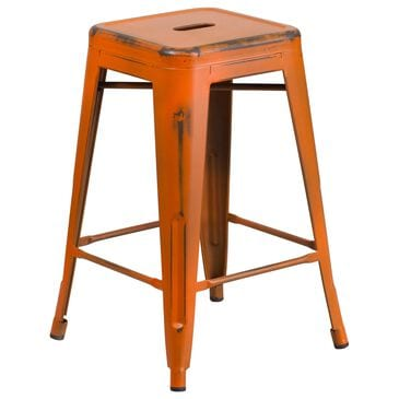 "Flash Furniture 24"" Counter Stool in Orange, , large"