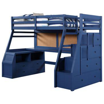 Gunnison Co. Jason II Storage Loft Bed in Navy Blue, , large