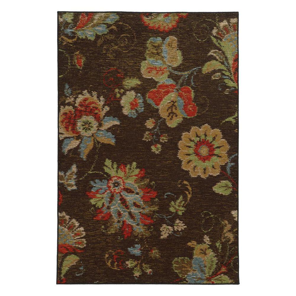 """Oriental Weavers Arabella 41908 6""""7"""" x 9""""3"""" Brown Area Rug, , large"""