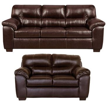 Arapahoe Home Austin Sofa and Loveseat Set in Chocolate, , large