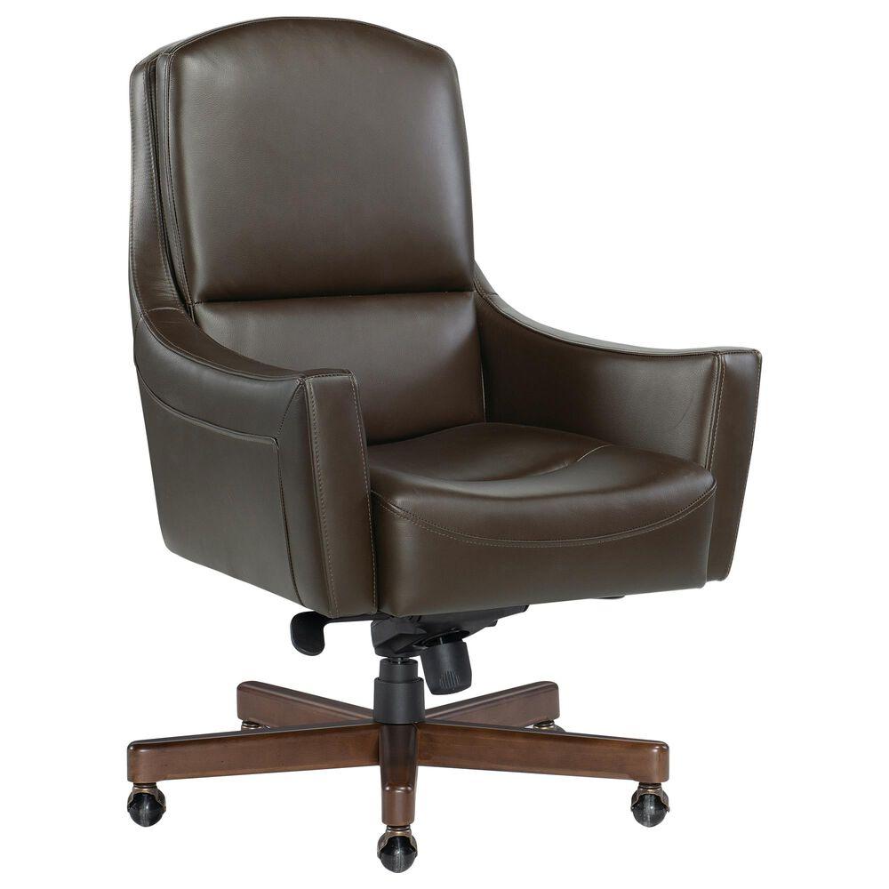 Hooker Furniture Wasila Executive Swivel Tilt Chair in Brown, , large