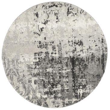 Safavieh Retro RET2139-7980 4' Round Light Grey and Grey Area Rug, , large