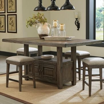 Signature Design by Ashley Wyndahl Counter Height Table with Storage in Rustic Brown - Table Only, , large