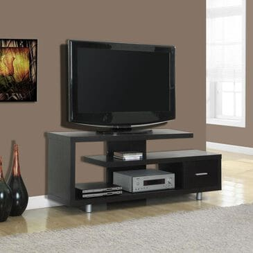 "Monarch Specialties 60"" Hollow-Core TV Console in Cappuccino, , large"