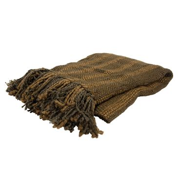 "Rizzy Home Rizzy Home Woven 50"" x 60""  Throw in Brown, , large"